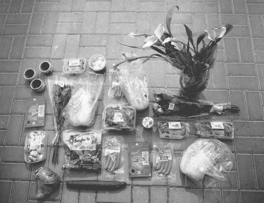 containern, müll, essen, verschwendung